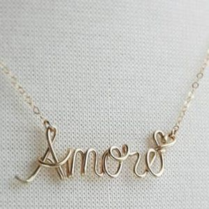 Jewelry - Handmade any name necklaces  silver or gold